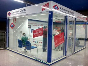 Customer Information offices construction for Madrid Metro|||